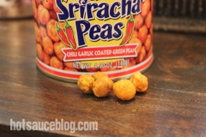 Spicy Sriracha Peas Close Up