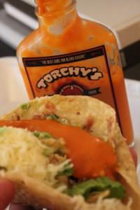 Torchys Hot Sauce Taco