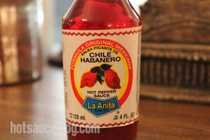 La Anita Chile Habanero Pepper Sauce - Label